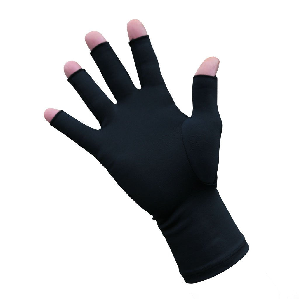 Infrared Compression Arthritis Gloves Fingertip-Fingerless - Gloves for Therapy by Veturo