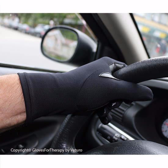 Infrared Therapy Full Finger Grip Gloves Hand Circulation Safe for Driving