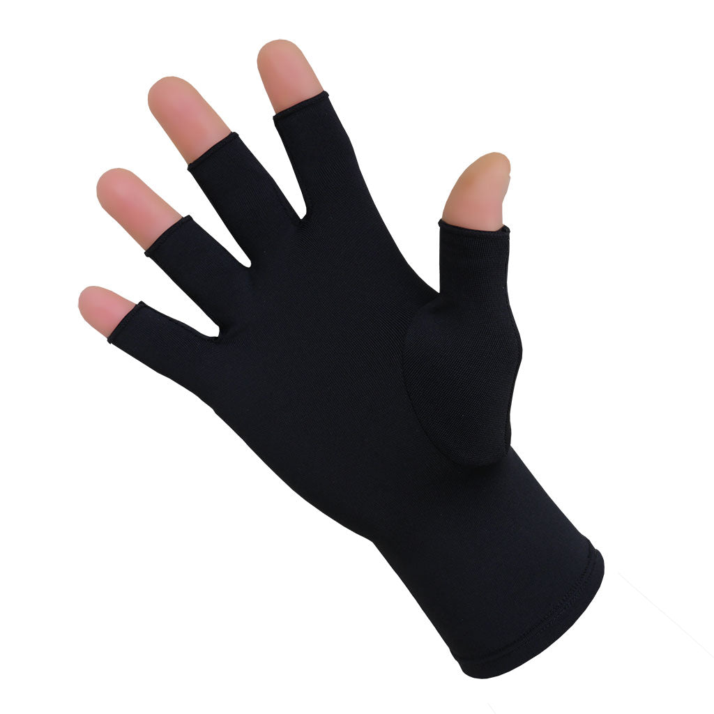 Compression Arthritis Half Finger Gloves Infrared Therapy - Gloves for Therapy by Veturo
