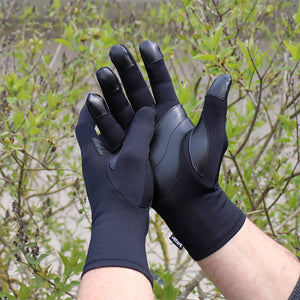 Raynaud's Leather Grip Full Gloves Circulation Recovery Infrared Therapy - Gloves for Therapy by Veturo