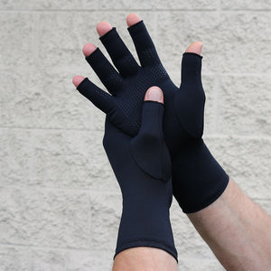Infrared Compression Fingertip Gloves Palm Dotted Grip - Gloves for Therapy by Veturo