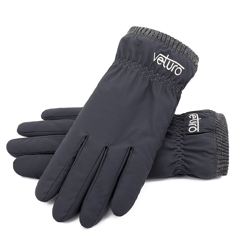 Thermal Fleece Gloves Softshell Water-Resistant Touchscreen - Gloves for Therapy by Veturo