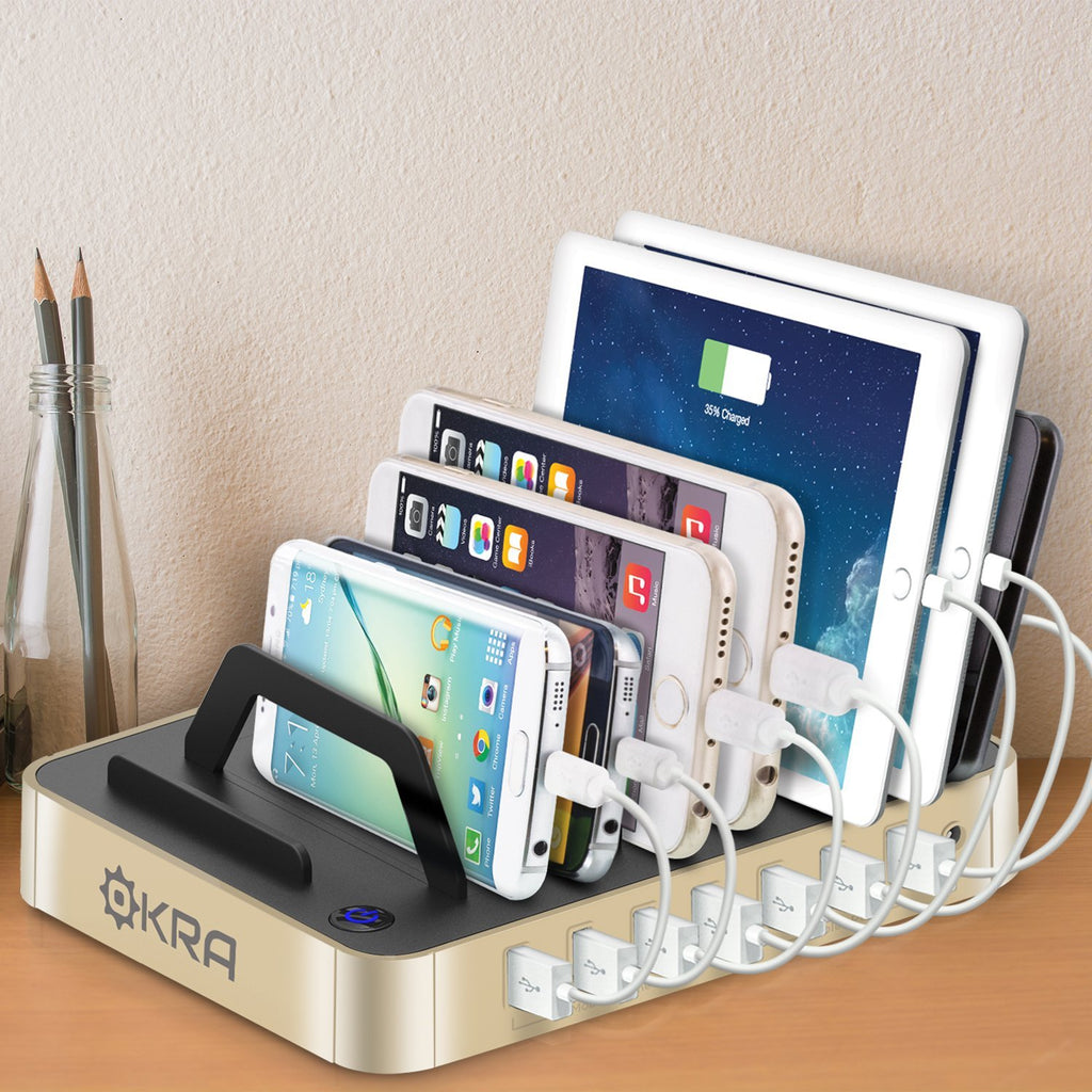 7-Port Hub USB Desktop Universal Charging Station Multi Device Dock for iPhone, iPad, Samsung Galaxy, LG, Tablet PC and all Smartphones and Tablets