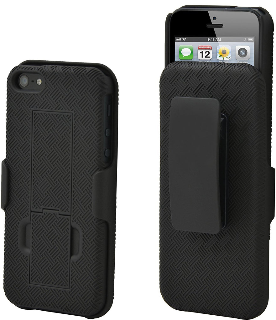 Aduro Shell Holster Combo Case for Apple iPhone SE / 5 / 5S with Kick-Stand