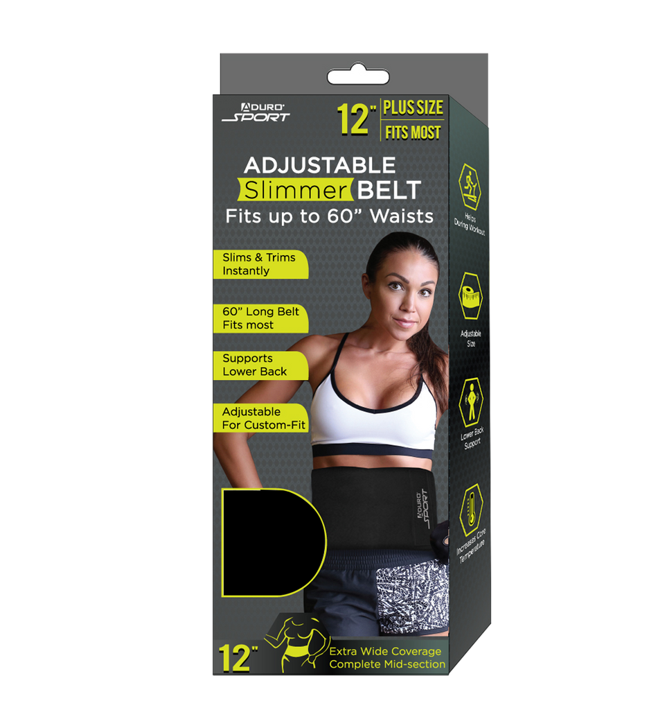 "Aduro Sport 12"" Adjustable Slimmer Sweat Belt"