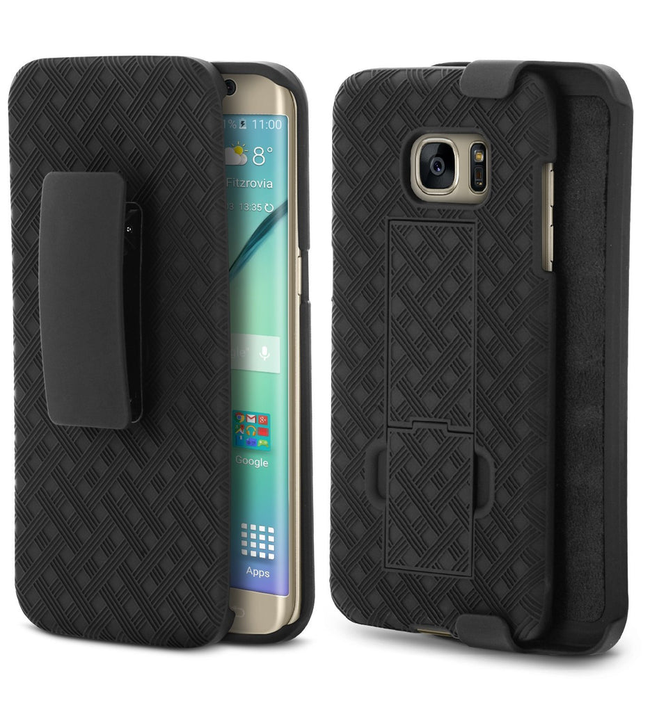 Galaxy S7 Edge Case, Aduro Shell & Holster COMBO Super Slim Case Shell