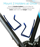 Aduro Bike Water Bottle Holder Aluminum Cage, [2X Pack] Bicycle Water Bottle Mount