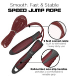 Aduro Sport Speed 9 feet Jumping Ropes with Rubberized Non-Slip Handles