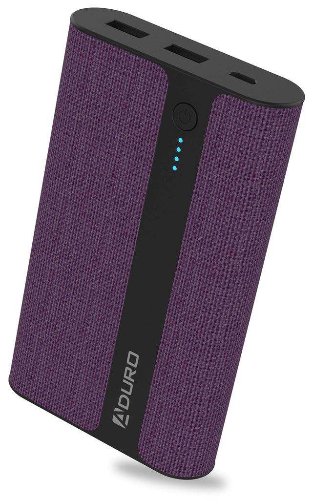 Aduro Fabric External Battery 12,000mAh Power Bank