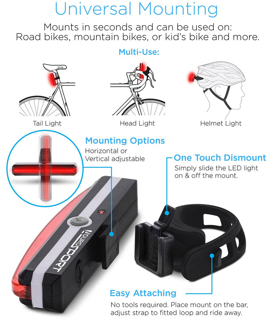 Aduro Sport Pro Bicycle LED Tail Light Free shipping buy online