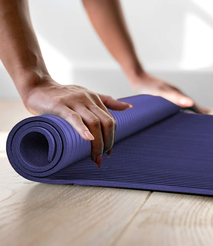 Aduro Sport Yoga Workout Mat, 1/2-Inch Extra Thick Yoga Foam Mat