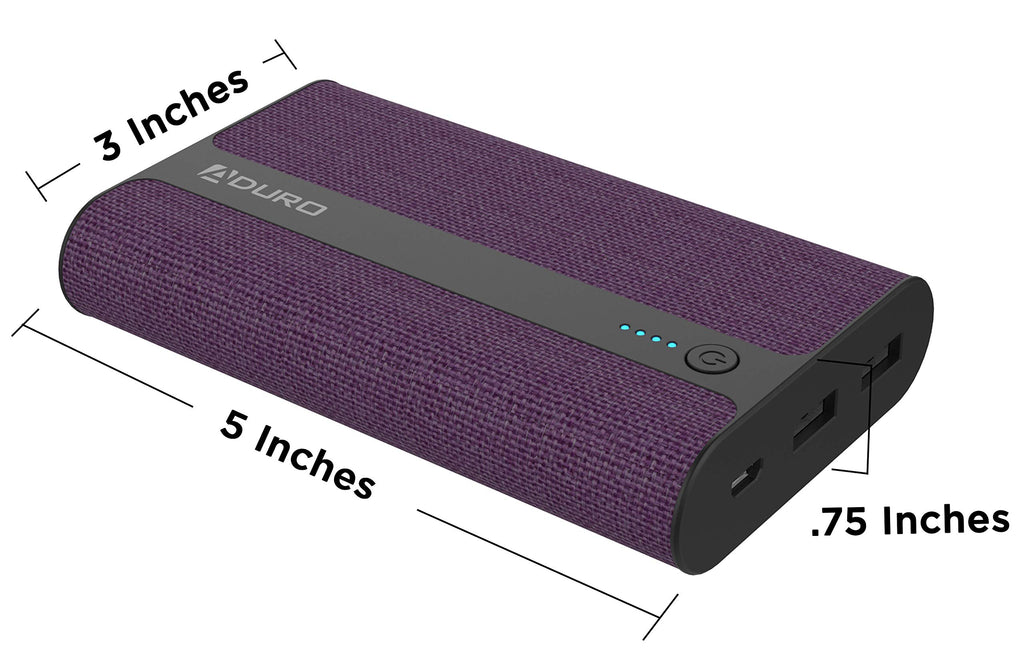 Aduro PowerUp Fabric 12,000mAh Dual USB Backup Battery