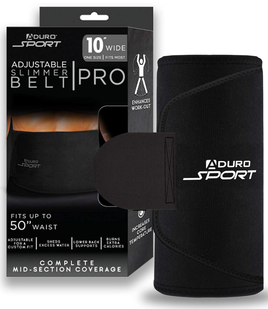 Aduro Sport Sweat Waist Trimmer Belt Premium Sweat Waist Trainer Stomach Wraps
