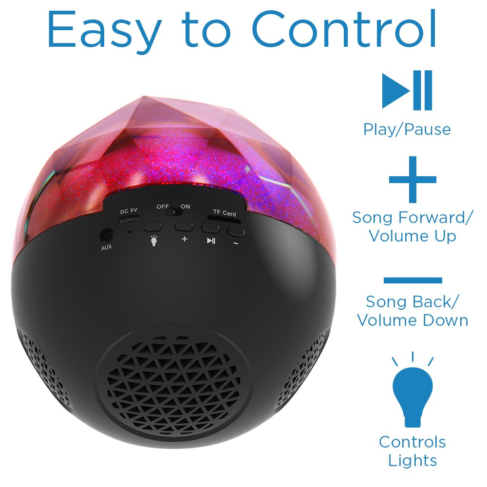 Oracle LED Sphere Shaped Party Wireless Speaker