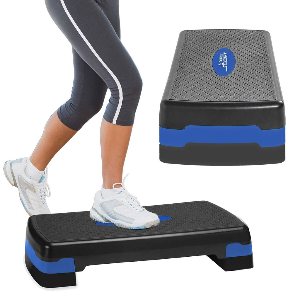 Aduro Sport Aerobic Exercise Step, Adjustable Workout Fitness Stepper