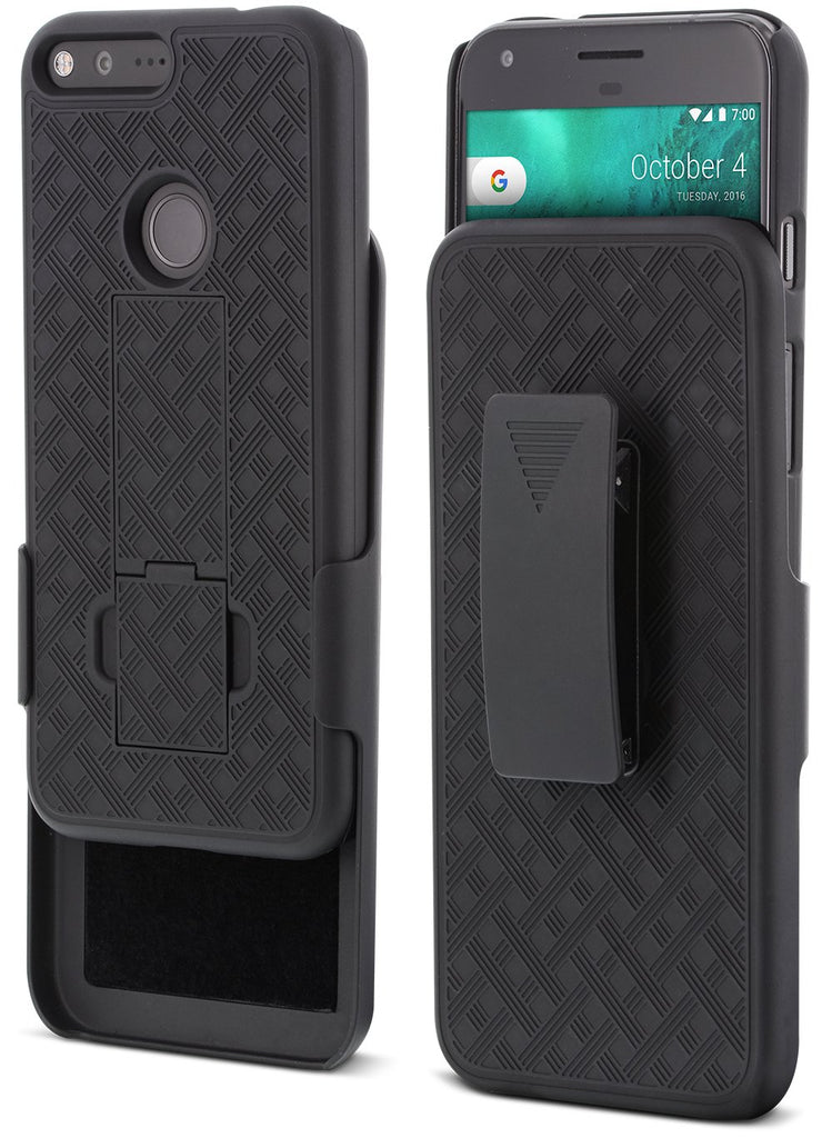 SHELL & HOLSTER COMBO CASE: Google Pixel XL