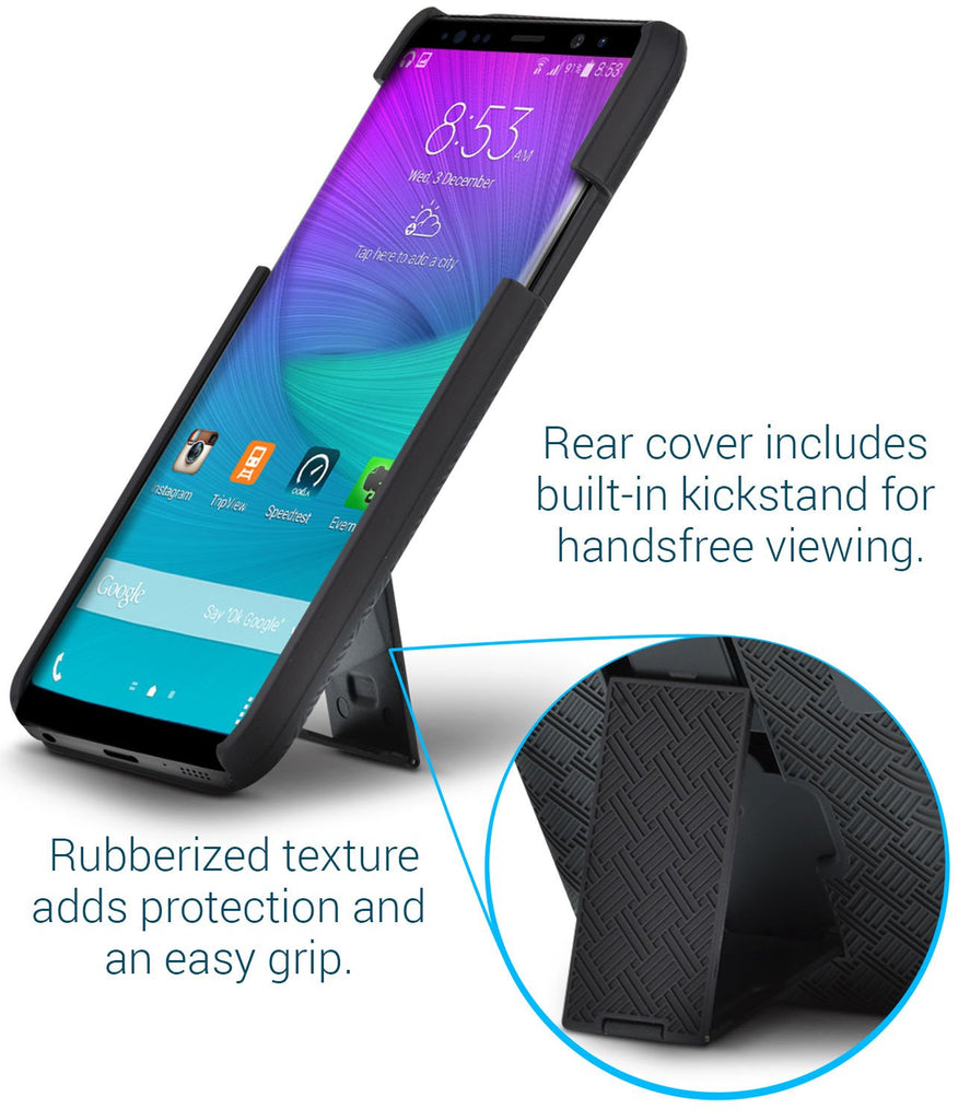 SHELL & HOLSTER COMBO CASE: Samsung Galaxy Note 8