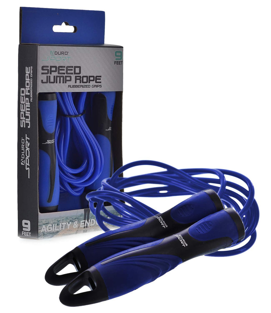 Aduro Sport 9 Ft Speed Jump Rope with Rubberized Non-Slip Handles
