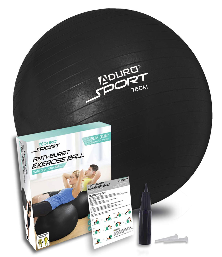 Aduro Sport Yoga Exercise Ball 55/65/75cm Workout Fitness Ball Chair