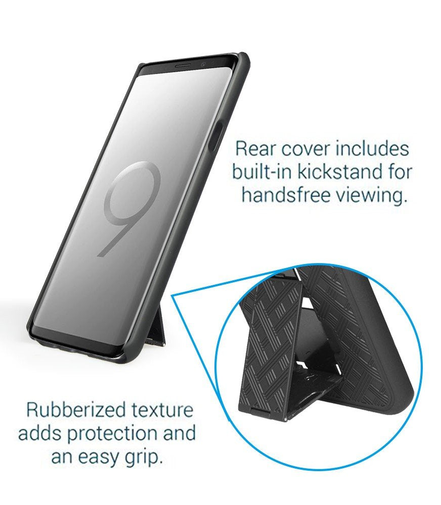 SHELL & HOLSTER COMBO CASE: GALAXY Galaxy S9 Plus