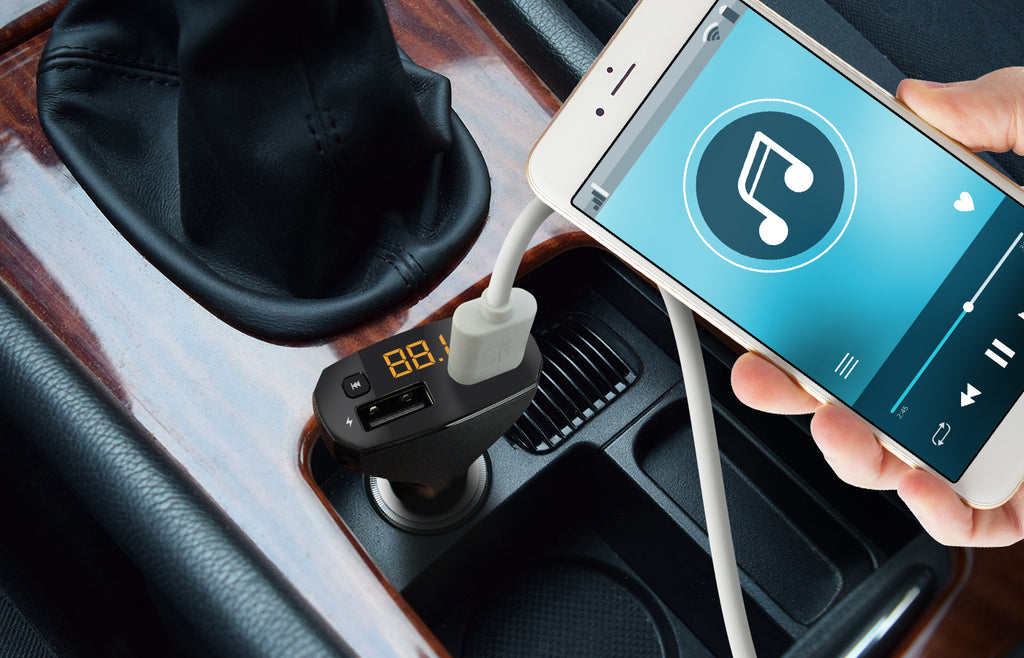 AutoSound 2: FM Transmitter & Dual-USB Car Charger
