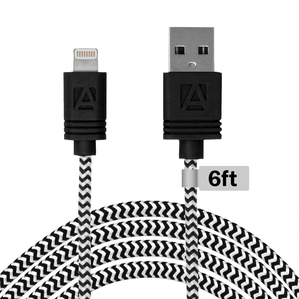 Aduro 6 Ft MFI Lightning Fiber Cloth Charge & Sync Cable