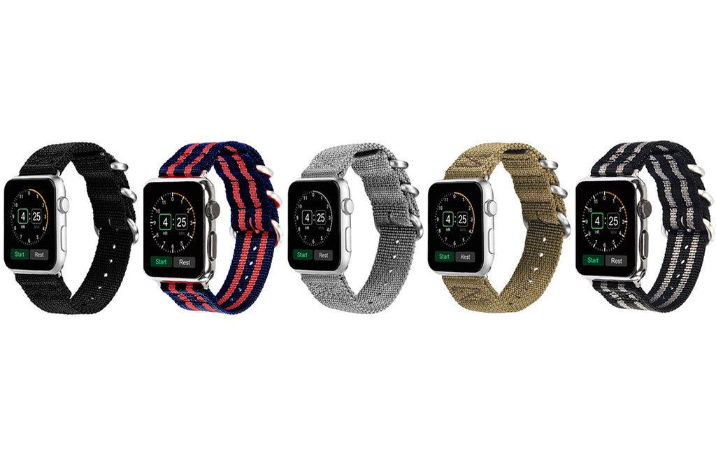 Aduro Nylon Buckle Band for Apple Watch Series 1, 2, 3, & 4