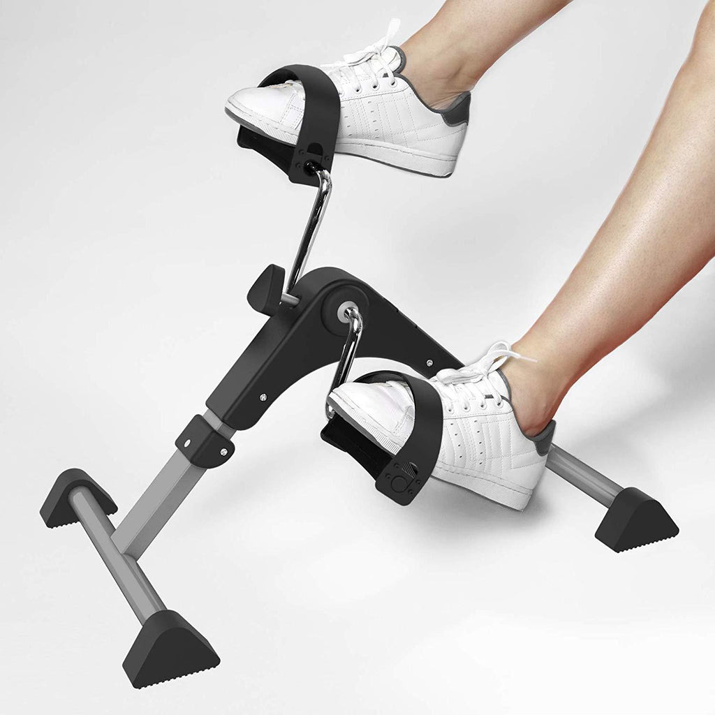 Aduro Foldable Pedal Exerciser Portable Under Desk Bike Foot Peddler