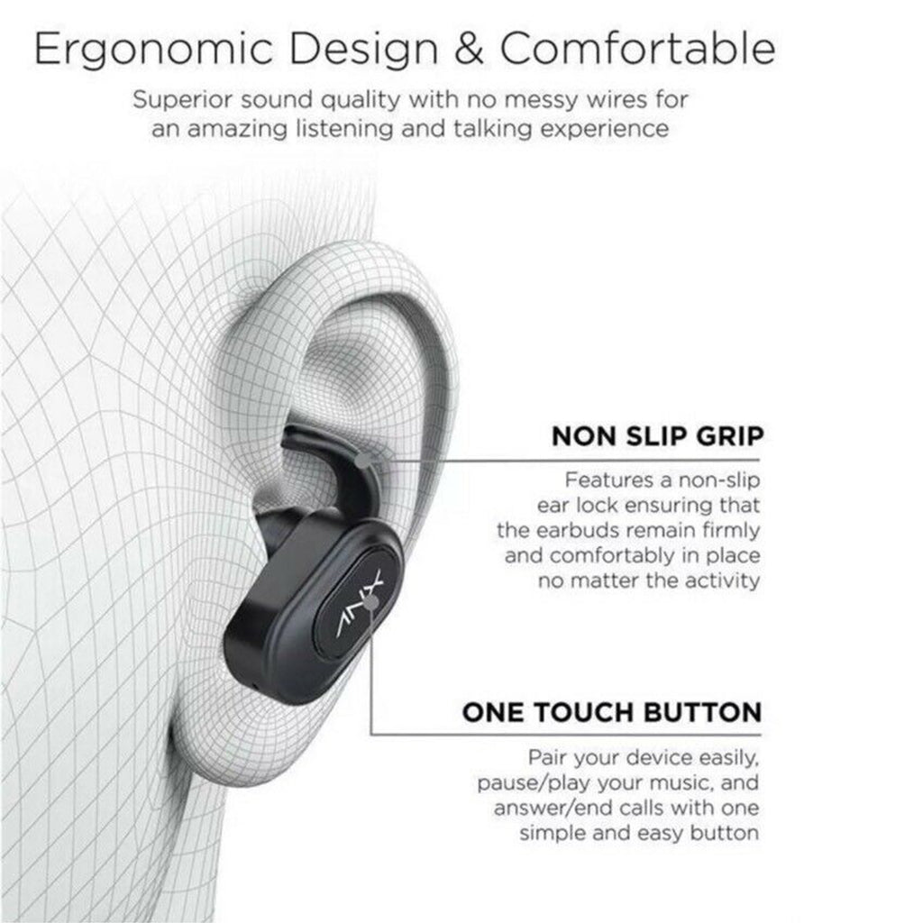 Aduro Sync-Buds True Wireless Earbuds w/ Charging Case Bluetooth 5.0
