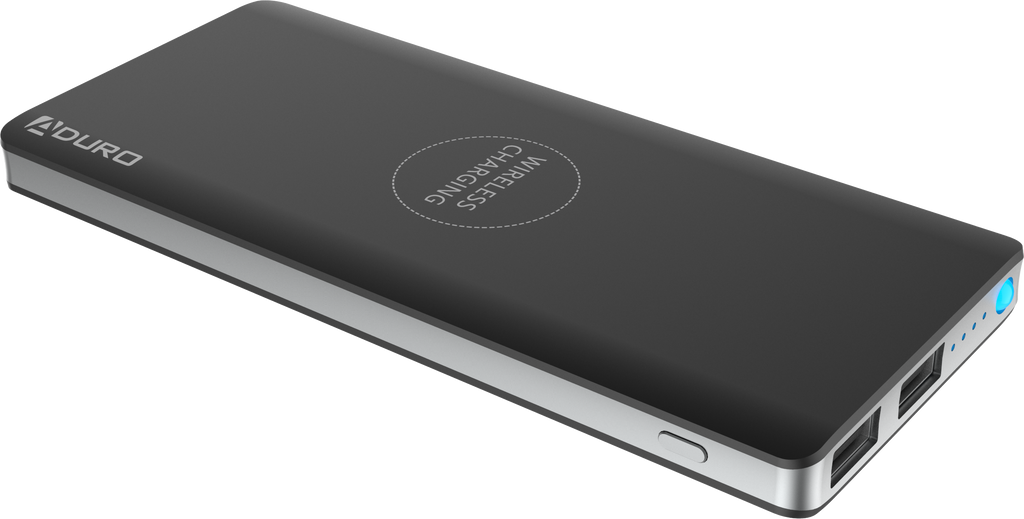 PowerUp Wireless Charging 8,000mAh Slim Dual USB Backup Battery