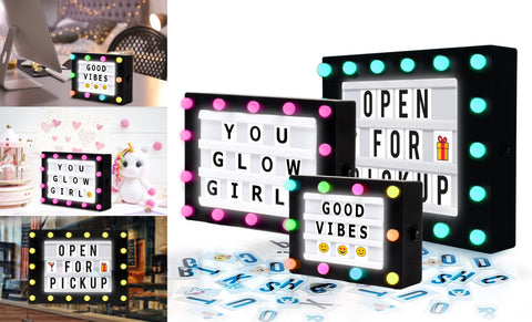 Hearth & Haven Hollywood LED Light-Up Message Lightbox
