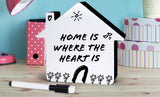 Hearth & Haven Mini LED Light up White Board Decorative Message Memo Sign