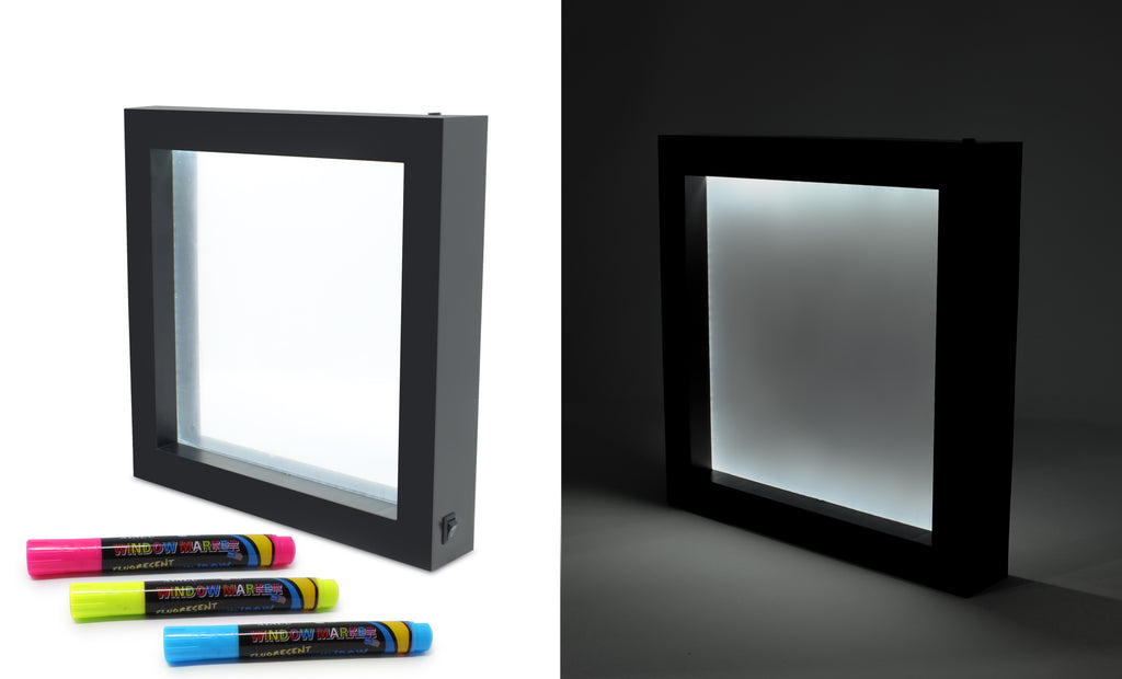 Hearth & Haven Neon Erasable Message Illuminated LED Board