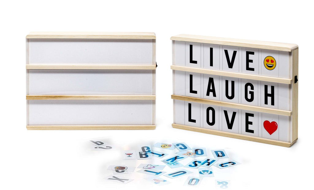 Hearth & Haven Wooden LED Light-Up Message Lightbox