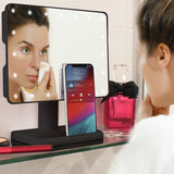 Aduro U-Reflect Vanity Mirror with Built in Bluetooth Speaker Rechargeable Battery