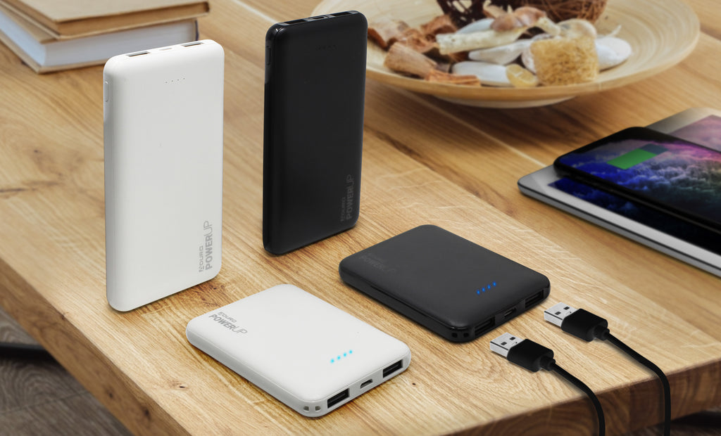 Aduro PowerUp Ultra Slim 5,000mAh Dual USB Portable Backup Battery