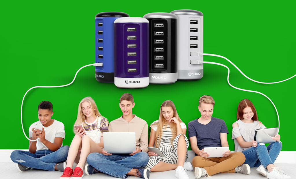 Aduro Power Tower 6 Port USB Charging Station