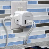 Aduro PowerUp Squared 3 Outlet & 3 USB Charging Station