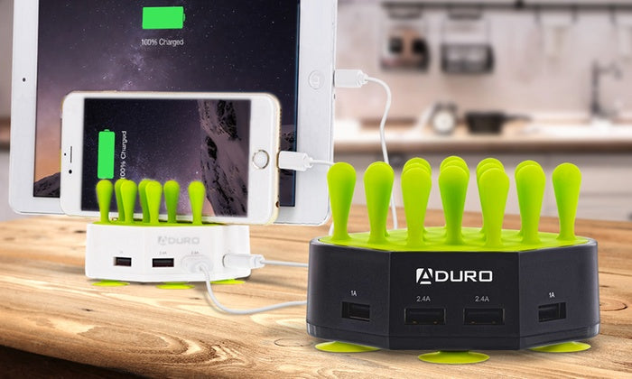 Aduro Grass Hub 4 Port USB Charging Station