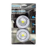 Bright Basics 2 Pack Ultra Thin Wireless LED Puck Lights