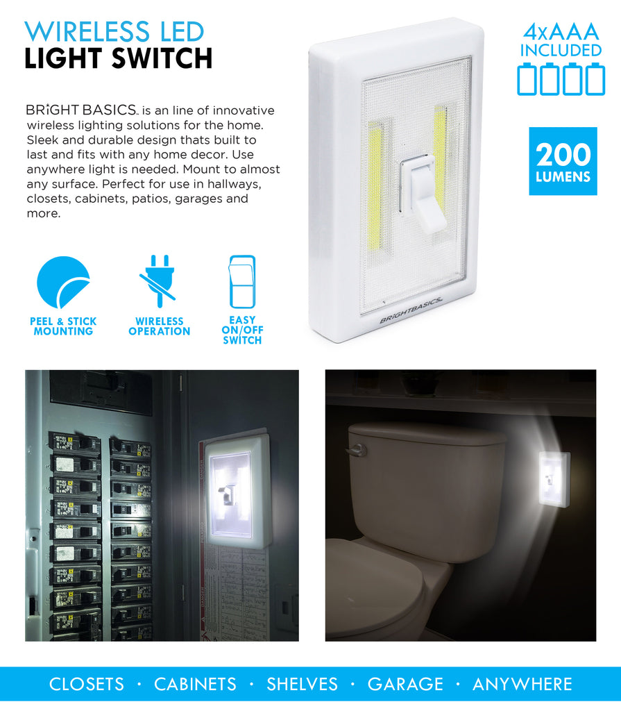 Bright Basics Wireless LED Light Switch
