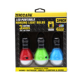 ZeroDark LED Portable Hanging Light Bulbs 3 Pack