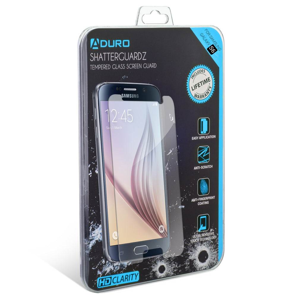 SHATTERGUARDZ Tempered Glass Screen Protector: Galaxy S6