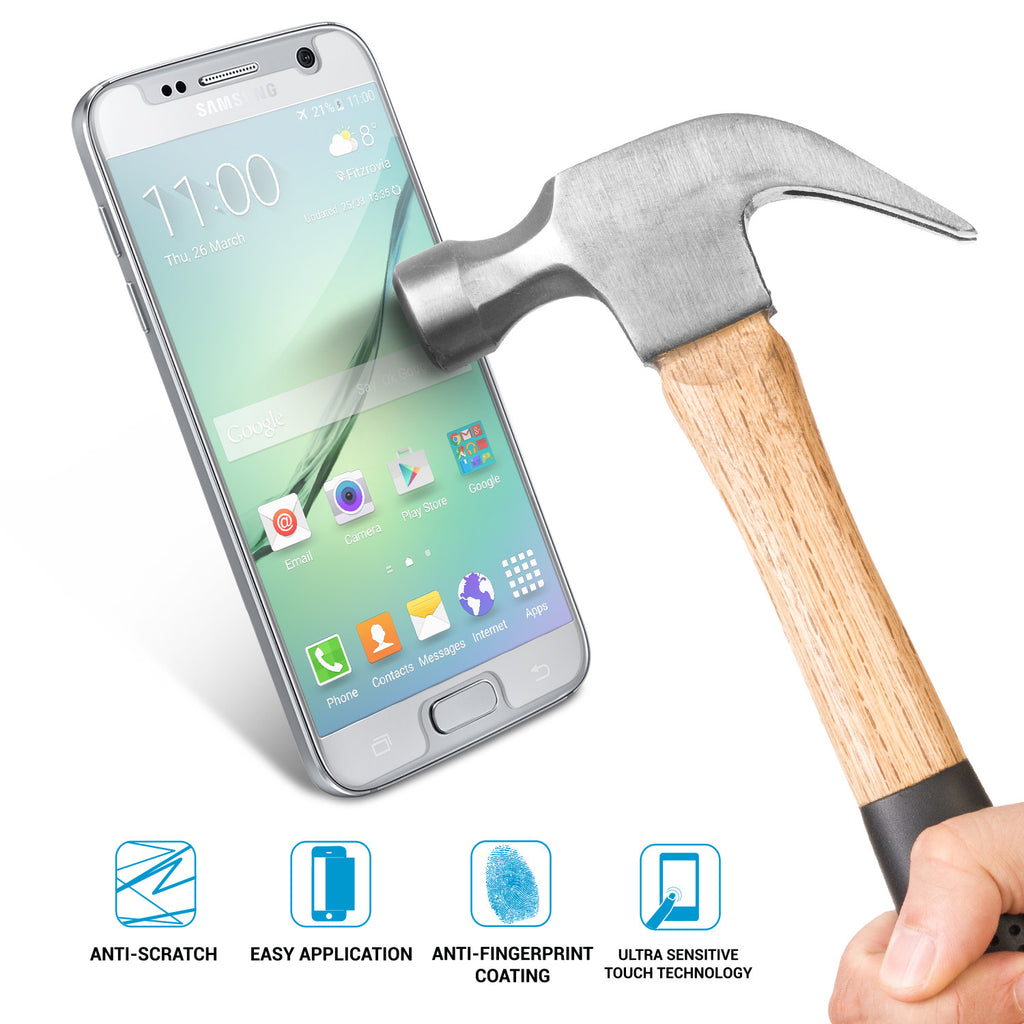 SHATTERGUARDZ Tempered Glass Screen Protector: Galaxy S7