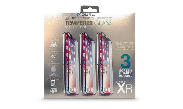 ShatterGuardz Tempered Glass Screen Protectors for iPhones 3 Pack