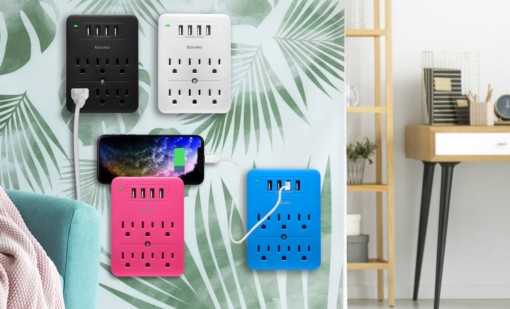Aduro Surge Multi Charging Station with 6 Outlets & 4 USB Ports