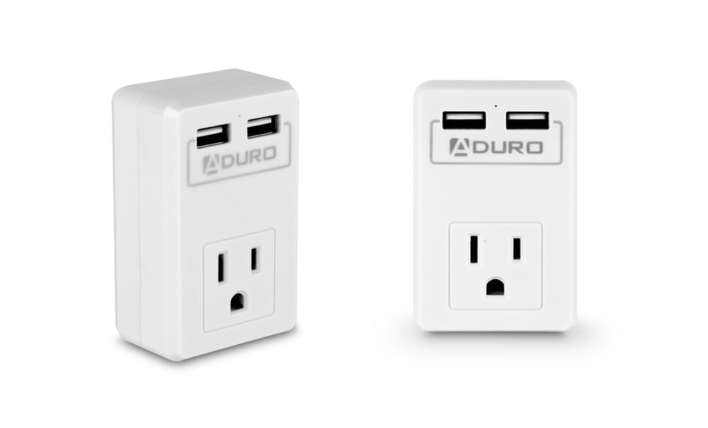 Aduro Surge Mini Travel Single Outlet Dual USB Surge Protector