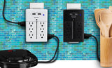 Aduro Surge Wall Charging Tower w/ 12 Outlets & Dual USB Ports