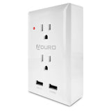 Aduro Surge Multi Charging Station with 2 Outlets & Dual USB Ports