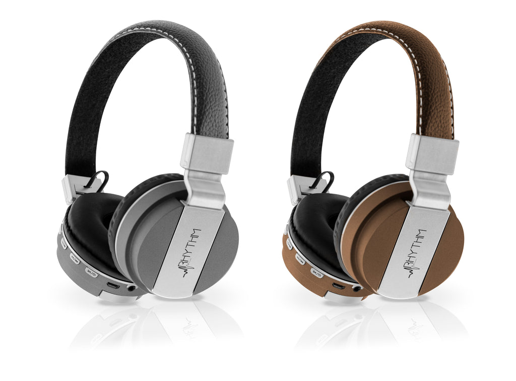 Aduro Pop Soul Leather Wireless Headphones